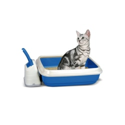 Imac Duo Cat Litter Tray With Scoop And Holder One Size Blå