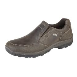 IMAC Herr vaxartat läder vattentåliga casual skor 9 UK Brun