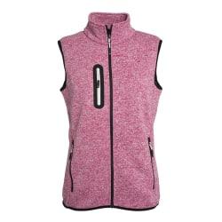 James and Nicholson Dam / stickad fleece väst L Pink Melange / O
