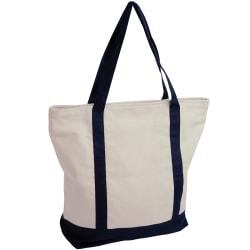 Jassz Väskor Canvas Contrast Tote Shopping Bag One Size Natural