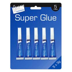 Just Stationery 3g Tube Super Lim (paket med 5) One Size Klar