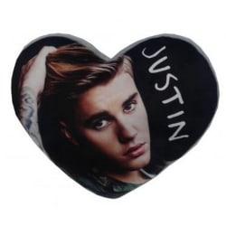 Justin Bieber Hjärtaformad kudde One Size Flerfärgade