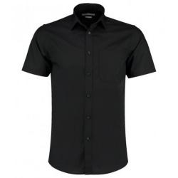 Kustom Kit Kortärmad skjorta för män för män 15 Svart