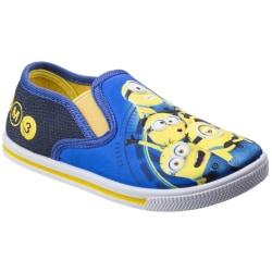 Leomil Barn / Barn Minions Slip On Trainers 8 Child UK Blue / Y Blue/Yellow 8 Child UK