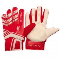 Liverpool FC Barn / barn målvakt handskar 7-9 Years Röd vit