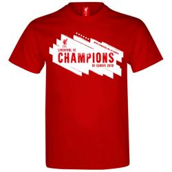 Liverpool FC Champions League Winners T-shirt XL Röd