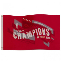 Liverpool FC Champions Of Europe Flag One Size Röd