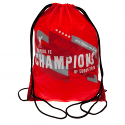 Liverpool FC Champions Of Europe Gym Bag One Size Röd