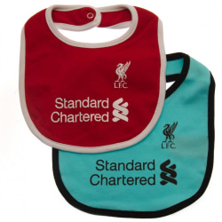 Liverpool FC Baby Haklappar (2-pack) One Size Röd / Turkos Red/Turquoise One Size