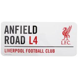 Liverpool FC Officiell Anfield Road Football Crest Street Sign O