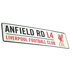 Liverpool FC Officiell fotboll 3D präglad metallhängande gata te