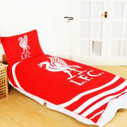 Liverpool FC Officiell Reversible Pulse Single Duvet Set Single