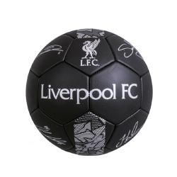 Liverpool FC Phantom Printed Signature Football Size 5 Svart