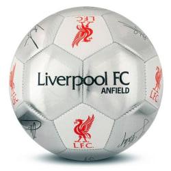 Liverpool FC Silver signatur fotboll - storlek 5 One Size Silver