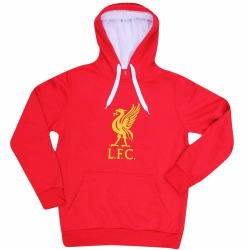 Liverpool FC Unisex Crest Hoodie för vuxna M Röd