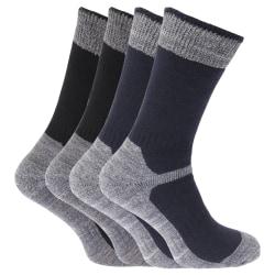 Män tunga förstärkta tå-arbetsstrumpor (paket med 4) UK Shoe 6-1