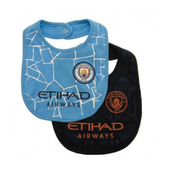 Manchester City FC haklapp (2-pack) One Size Blue / Black Blue/Black One Size