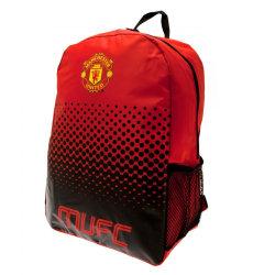 Manchester United FC Fade Design-ryggsäck One Size Röd