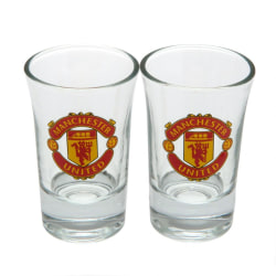 Manchester United FC Official Shot Glass Set (Pack Of 2) One Siz