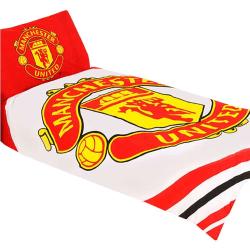Manchester United FC Pulse Enkelt täcke-set Single Röd vit
