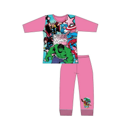 Marvel Comics Girls Pyjamas Set 5-6 Years Rosa