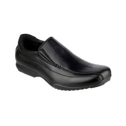 Mirak Clipper Boys School Shoes 12 UK Svart