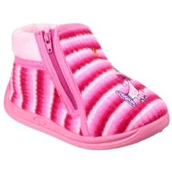 Mirak Safari Zip Up-tofflor för barn / barn 10.5 UK Junior Rosa