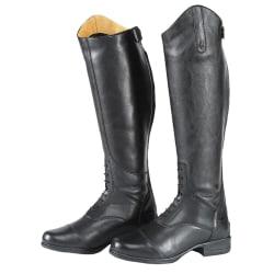 Moretta damer / damer Gianna Leather Long Riding Boots 8 UK Blac