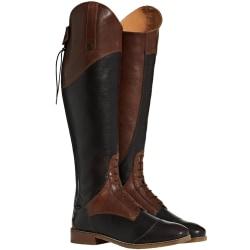 Moretta damer / damer Pietra Leather Long Riding Boots 9 UK Narr