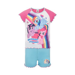 My Little Pony Tjejer kort pyjamasuppsättning 18-24 Months Rosa