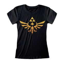 Nintendo Unisex vuxen Hyrule Legend Of Zelda T-shirt L Svart