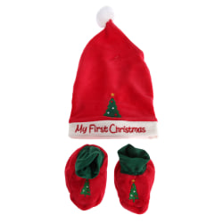 Nursery Time Baby Girls / Boys Christmas Hat And Bootie Set One