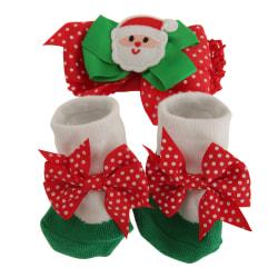 Nursery Time Baby julband och strumpor set 0-6 Months Santa