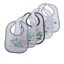 Nursery Time Baby pojkar / flickor söta haklappar (paket med 5) Blue/White One Size