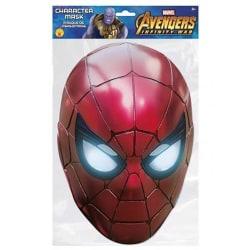 Avengers Spider-Man-kortmask One Size Röd