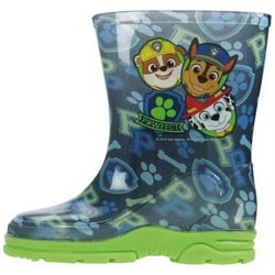 Paw Patrol Pojkar PVC Wellingtons 6 UK Child Blå grön