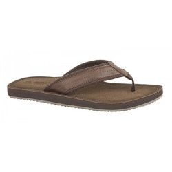 PDQ Mens Toe Post Mule Flip Flops 9 UK Brun