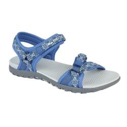 PDQ Sandaler för damer / damer justerbara 3 UK Blå