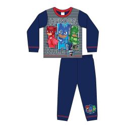 PJ Masks Boys Heroes Rule Pyjamas 3-4 Years Blå röd