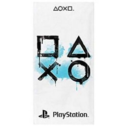 Playstation Inkwash Handduk One Size Vit