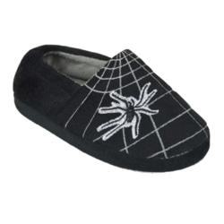 Pojkar Spiderweb tofflor 11-12 UK Child Svart