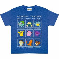 Pokemon Boys Trainer T-Shirt 6-7 Years Royal Blue Heather