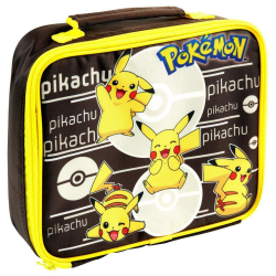 Pokemon Rektangulär Pikachu-lunchpåse One Size Svart gul