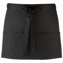 Premier 3 Öppen midjeförkläde / arbetskläder One Size Svart