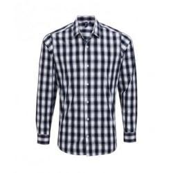 Premier Mäns Mulligan Check långärmad skjorta XL Vit / Navy