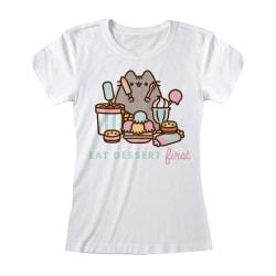 Pusheen T-shirt dam / dam M Vit