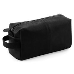Quadra NuHide Faux Leather Washbag (paket med 2) One Size Svart