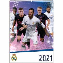 Real Madrid CF 2021 A3-kalender A3 Flerfärgade