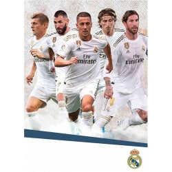 Real Madrid CF A3 2020 väggkalender One Size Vit blå