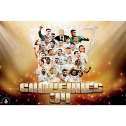Real Madrid CF Campeones 34-affisch One Size Flerfärgade